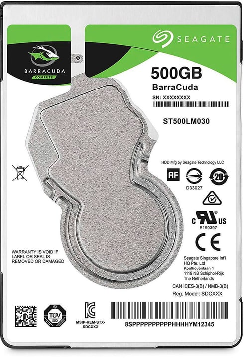 "BarraCuda SATA 2.5"" 500 GB Disque Dur Interne HDD Seagate 785300145850 Photo no. 1"