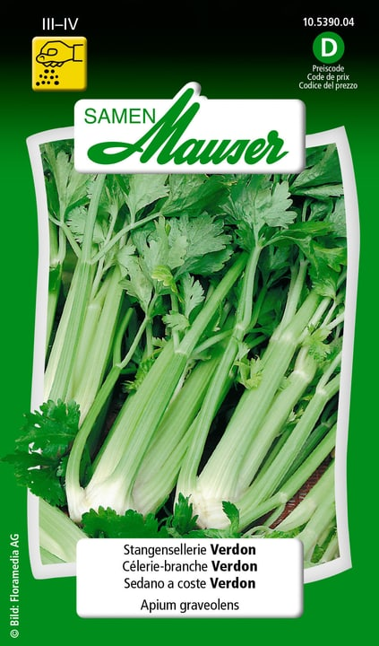 Stangensellerie Verdon Samen Mauser 650115301000 Inhalt 0.5 g (ca. 200 Pflanzen oder 25 m² ) Bild Nr. 1