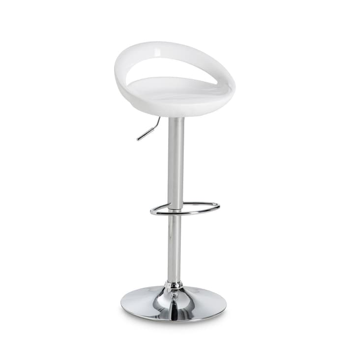 MOON Tabouret de bar 366032600000 Dimensions L: 46.5 cm x P: 40.0 cm x H: 78.0 cm Couleur Blanc Photo no. 1