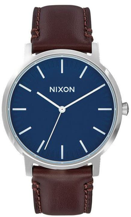Porter Leather Navy Brown 40 mm Montre bracelet Nixon 785300137047 Photo no. 1