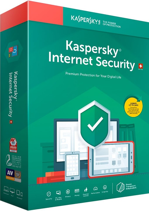 Internet Security (3 Devices) [PC/Mac/Android] (D/F/I) Physique (Box) Kaspersky 785300137685 Photo no. 1