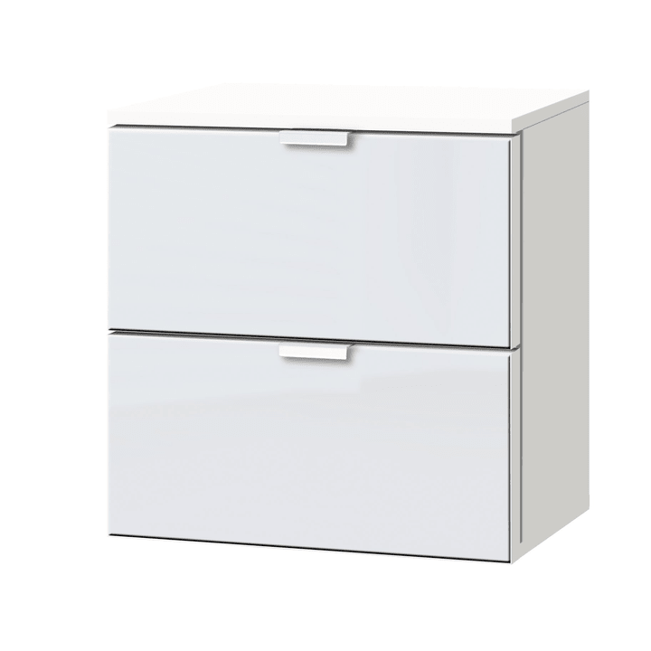 ORSON Commode 404478600000 Dimensions L: 40.0 cm x P: 42.0 cm x H: 42.0 cm Couleur Verre blanc satiné Photo no. 1
