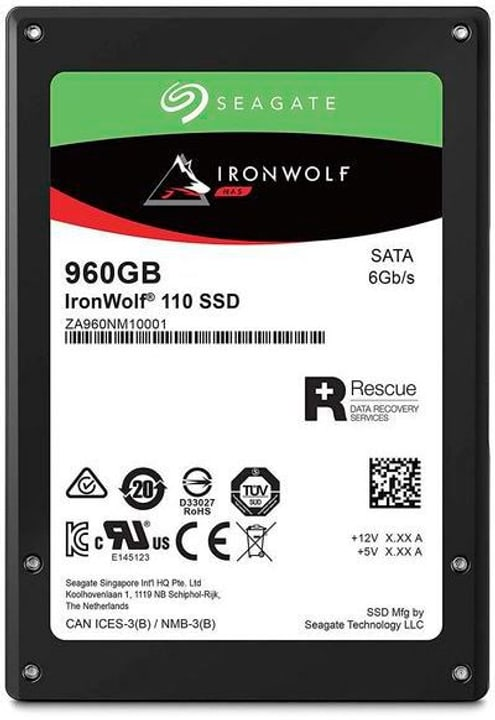 "SSD IronWolf 110 2.5"" 960 GB Disque Dur Interne SSD Seagate 785300145873 Photo no. 1"