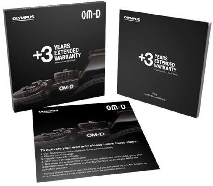 3 ans pour toutes les caméras OM-D extension de garantie Olympus 785300145152 Photo no. 1
