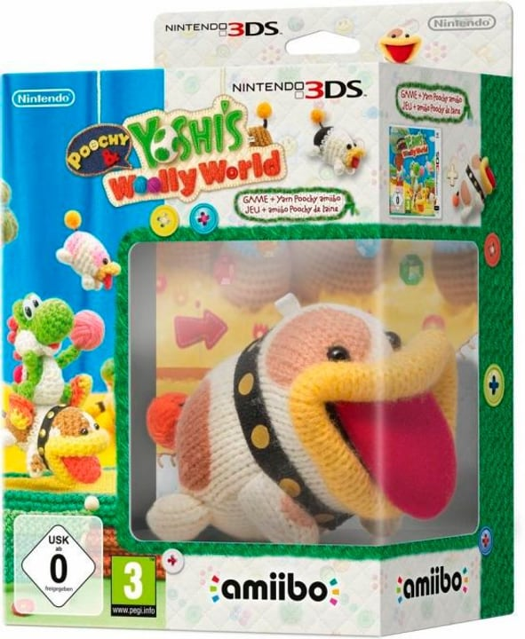 3DS - Poochy & Yoshis Woolly World + amiibo Yarn Poochy Fisico (Box) 785300121667 N. figura 1