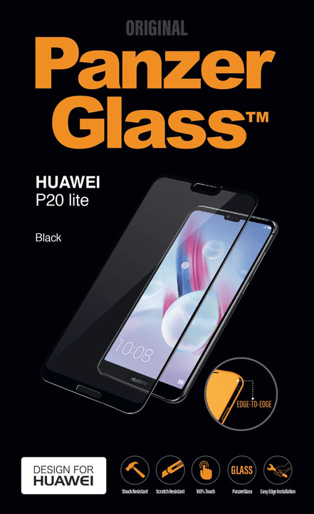 Screen  Protector  Edge2Edge Huawei  P20 Lite black Pellicola prottetiva Panzerglass 798617600000 N. figura 1
