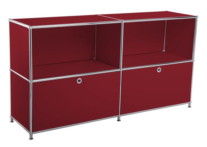 FLEXCUBE Sideboard 401814020230 Grösse B: 152.5 cm x T: 40.0 cm x H: 80.5 cm Farbe Rot Bild Nr. 1