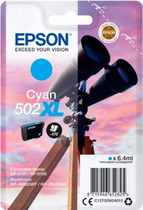 cartuccia d'inchiostro 502XL cyan Cartuccia d'inchiostro Epson 798559500000 N. figura 1