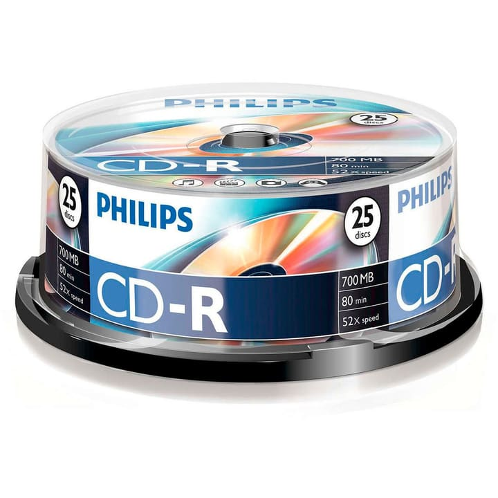CD-R 700MB 25-Pack CD imprimable Philips 787242000000 Photo no. 1
