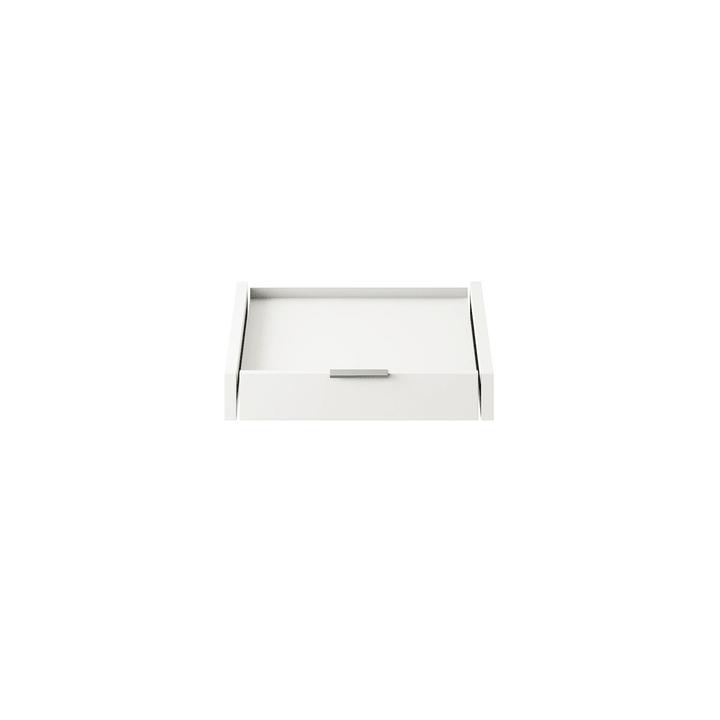 MILO Appoggio con cassetto 364047227801 Dimensioni L: 49.0 cm x P: 53.0 cm x A: 6.0 cm Colore Bianco N. figura 1