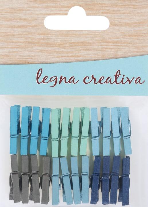 24 Klammern blau-hellblau Legna Creativa 665533100000 Bild Nr. 1
