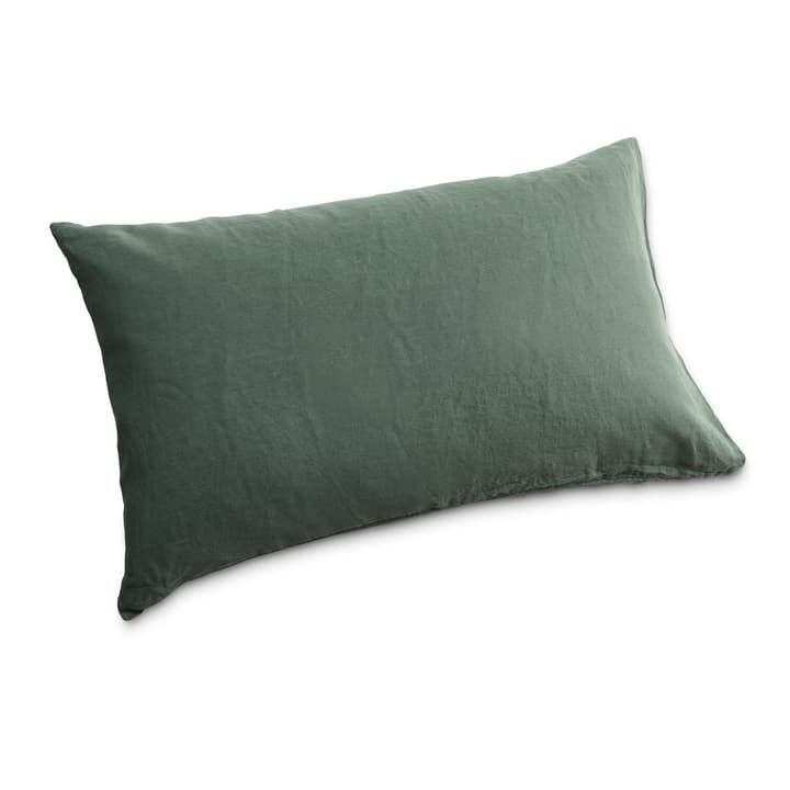 LINEN Taie d'oreiller 376020512503 Couleur Vert sapin Dimensions L: 100.0 cm x L: 65.0 cm Photo no. 1