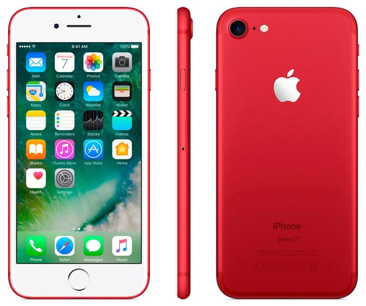 iPhone 7 128GB rosso Apple 794617800000