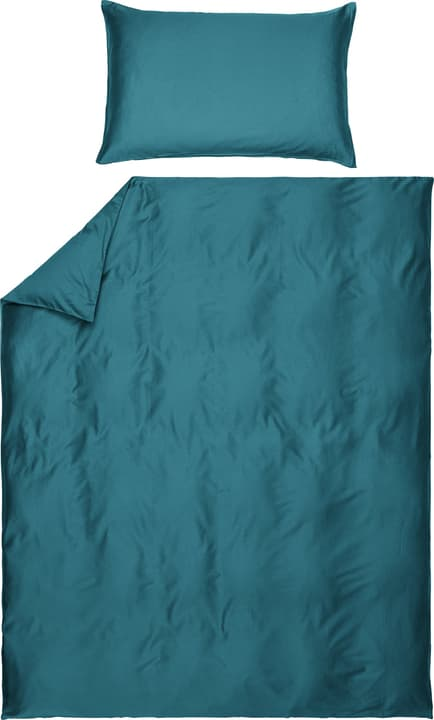 PENELOPE Taie d'oreiller en satin 451193010965 Couleur Pétrole Dimensions L: 100.0 cm x H: 65.0 cm Photo no. 1