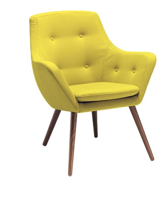 FLORIN Sessel  (Nussbaum) 402441107050 Grösse B: 73.0 cm x T: 70.0 cm x H: 82.0 cm Farbe Gelb Bild Nr. 1