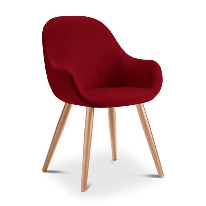 LAYLA Chaise Evita 366027708016 Dimensions L: 56.0 cm x P: 60.0 cm x H: 84.0 cm Couleur Rouge Photo no. 1