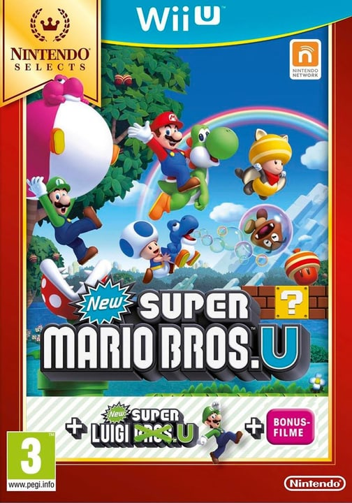 Wii U - New Super Mario Bros. U + New Super Luigi U Selects Fisico (Box) 785300120988 N. figura 1