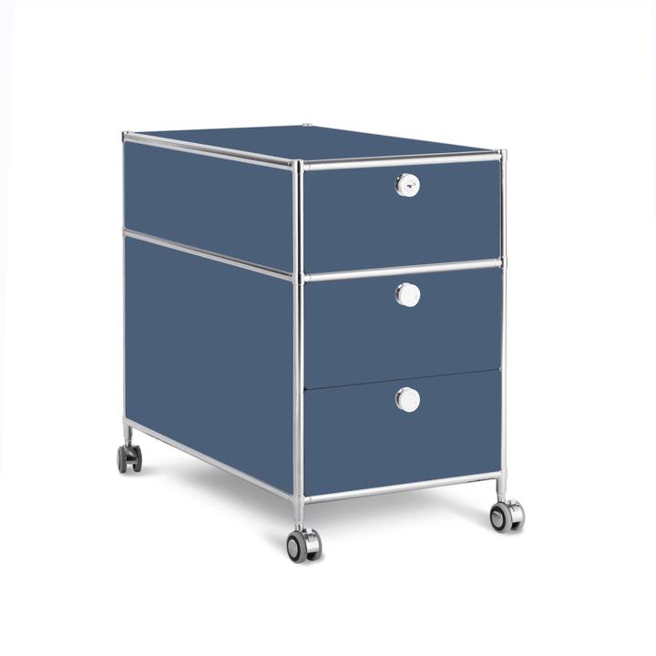 QUADRO Cassettiera 364241800042 Dimensioni L: 42.0 cm x P: 77.0 cm x A: 67.5 cm Colore Blu scuro N. figura 1