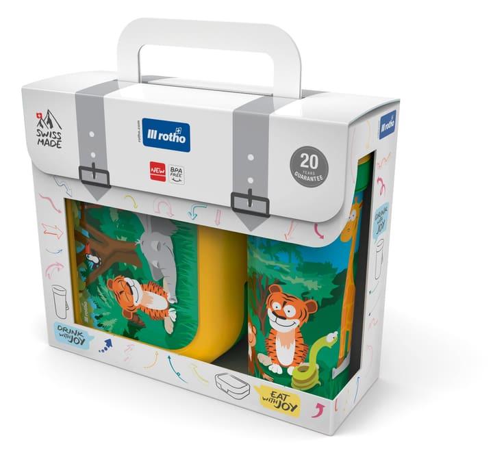 Set porta-snack + bottiglia MEMORY KIDS Jungle Rotho 604036100000 N. figura 1