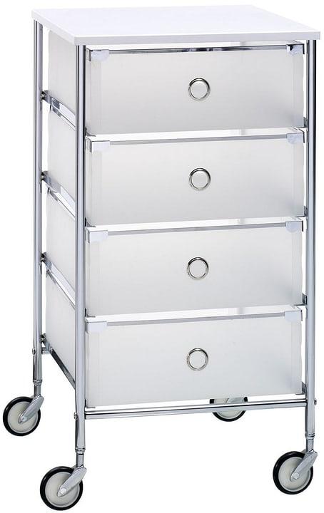 ROLLO Petit meuble à roulettes 407600105410 Dimensions L: 38.0 cm x P: 39.0 cm x H: 70.5 cm Couleur Blanc Photo no. 1