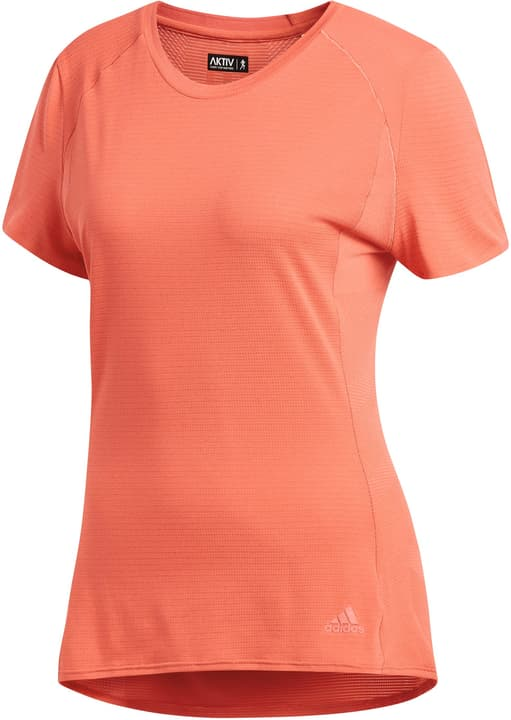 FR SN SS TEE W Shirt pour femme Adidas 470151300430 Couleur rouge Taille M Photo no. 1