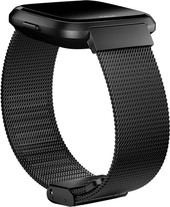 Versa Bracciale in maglia milanese, Black Stainless Steel Fitbit 785300134743 N. figura 1