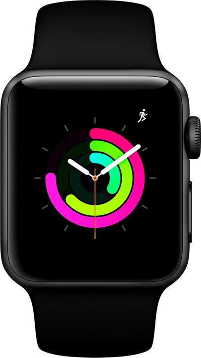 Watch Series3 GPS 38mm Space Grey Aluminium Case Black Sport Band Smartwatch Apple 785300139127 N. figura 1
