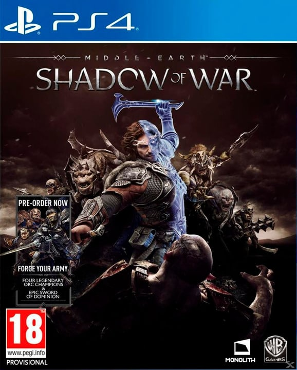 PS4 - Middle-Earth Shadow of War Box 785300122356 Photo no. 1