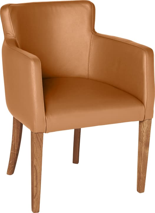 MORISANO Chaise 402358200055 Dimensions L: 56.0 cm x P: 46.0 cm x H: 79.0 cm Couleur Cognac Photo no. 1