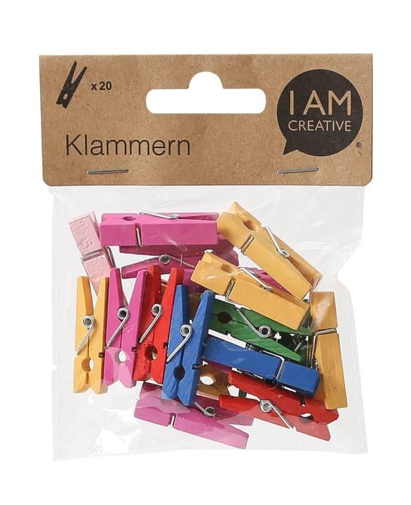 Pinces en bois, multicolore, 20 pcs., 3.5x0.8cm 666785600000 Photo no. 1