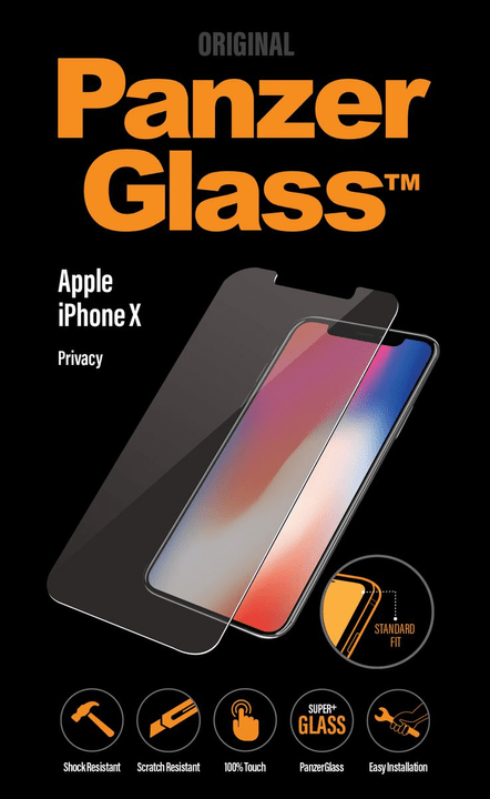 Privacy for iPhone X clear Protection d'écran Panzerglass 798608400000 Photo no. 1