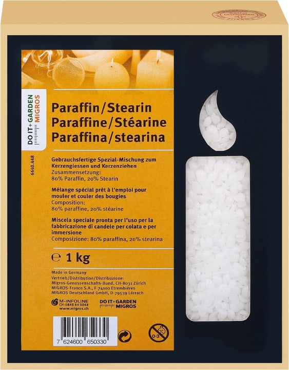 Paraffin/Stearin Past.1Kg Exagon 664044800000 Bild Nr. 1