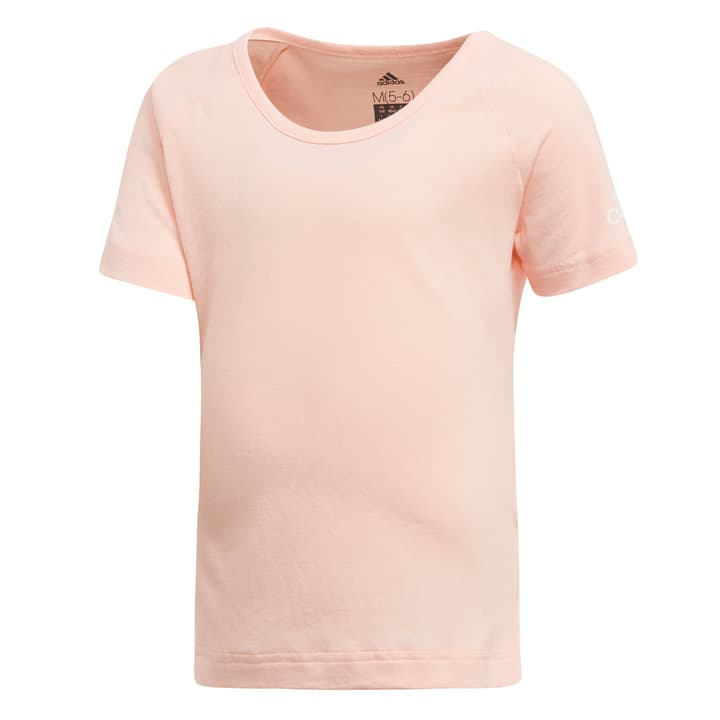 Cotton Tee Girls Maillot pour fille Adidas 472339909852 Couleur saumon Taille 98 Photo no. 1