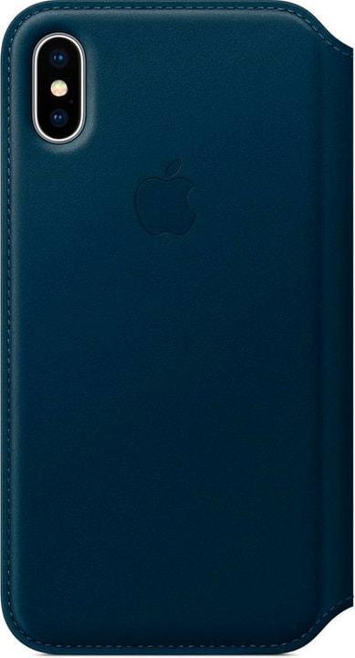 iPhone X Leather Folio  Cosmos bleu Apple 785300130108