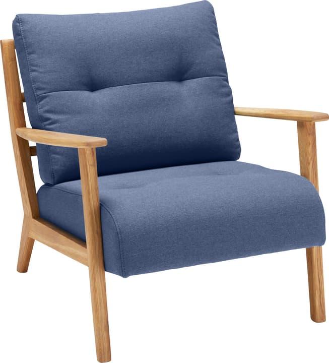 FAUST Fauteuil (Corvina) 402465100140 Dimensions L: 83.0 cm x P: 76.0 cm x H: 80.0 cm Couleur Bleu Photo no. 1