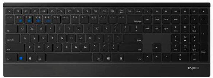 E9500M Multimode Tastatur Rapoo 785300146050 Bild Nr. 1