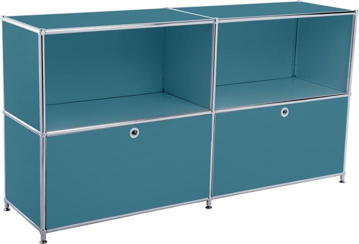 FLEXCUBE Sideboard 401814020266 Grösse B: 152.5 cm x T: 40.0 cm x H: 80.5 cm Farbe Petrol Bild Nr. 1