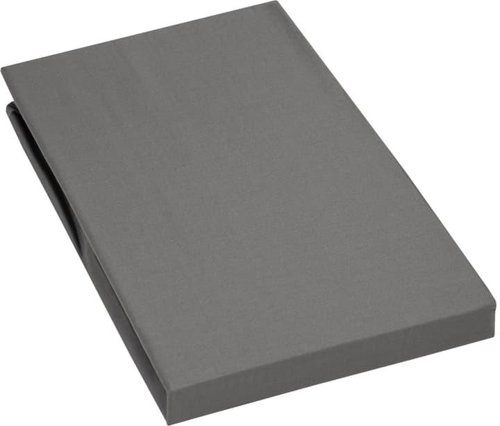 PENELOPE Lenzuolo teso di raso 451043431484 Colore Grigio scuro Dimensioni L: 140.0 cm x A: 200.0 cm N. figura 1