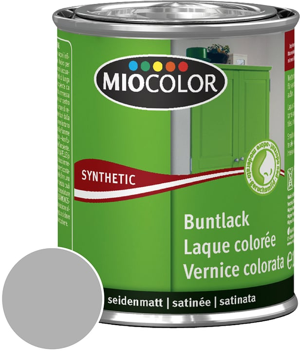 Synthetic Vernice colorata opaca Grigio Argento 125 ml Miocolor 661439600000 Contenuto 125.0 ml Colore Grigio Argento N. figura 1