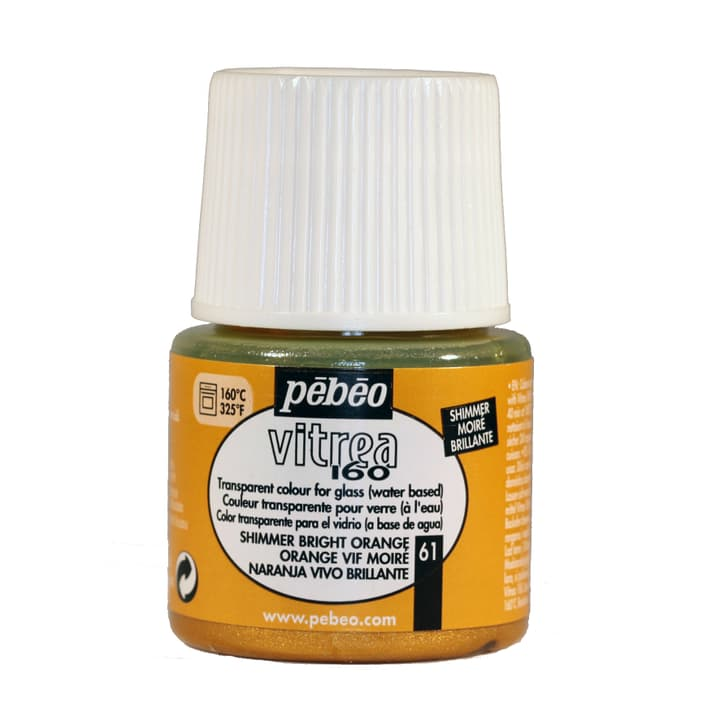 Vitrea 160 Moire 45ml Pebeo 663735500000 Couleur Orange Photo no. 1