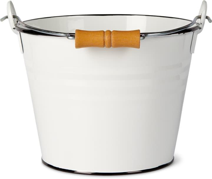 Secchio con manico in legno 631327700000 Colore Bianco Taglio Litri 4.5 l x B: 22.0 cm x T: 16.0 cm x H: 17.0 cm N. figura 1