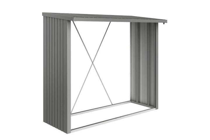 Parete di fondo per scaffale per la legna Wood Stock 230 Biohort 647244400000 Colore Grigio Quartz-Metallico N. figura 1