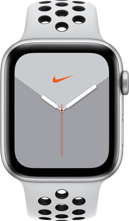 Watch Nike Series 5 LTE 44mm silver Aluminium Pure Platinum Black Nike Sport Band Smartwatch Apple 785300146965 Photo no. 1