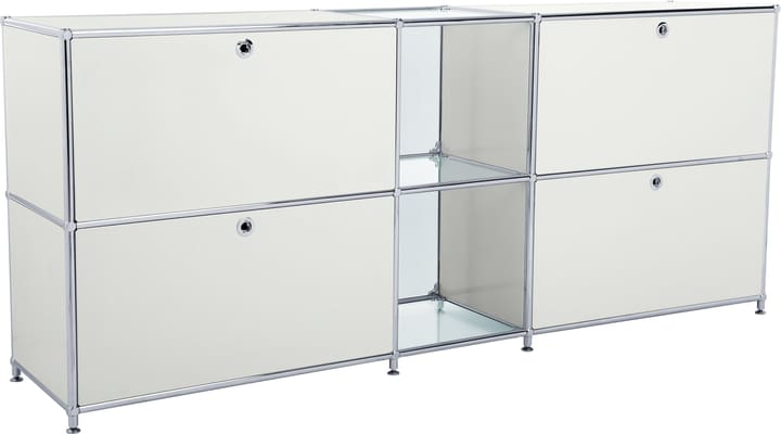 FLEXCUBE Buffet 401814320281 Dimensions L: 189.0 cm x P: 40.0 cm x H: 80.5 cm Couleur Gris clair Photo no. 1