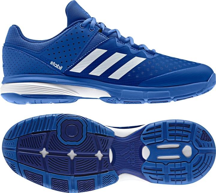 Court Stabil Herren-Indoorschuh Adidas 461709240040 Farbe blau Grösse 40 Bild-Nr. 1