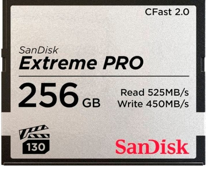 CFast Card Extreme Pro 256GB SanDisk 785300134442 Photo no. 1