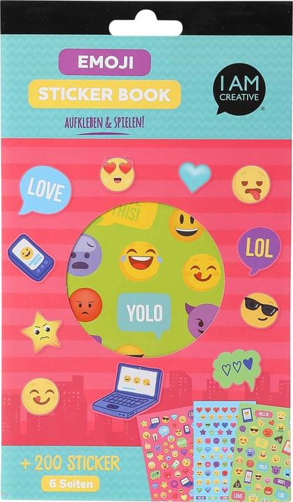 Stickerbook, Emoji, 6 foglie 666784700000 N. figura 1
