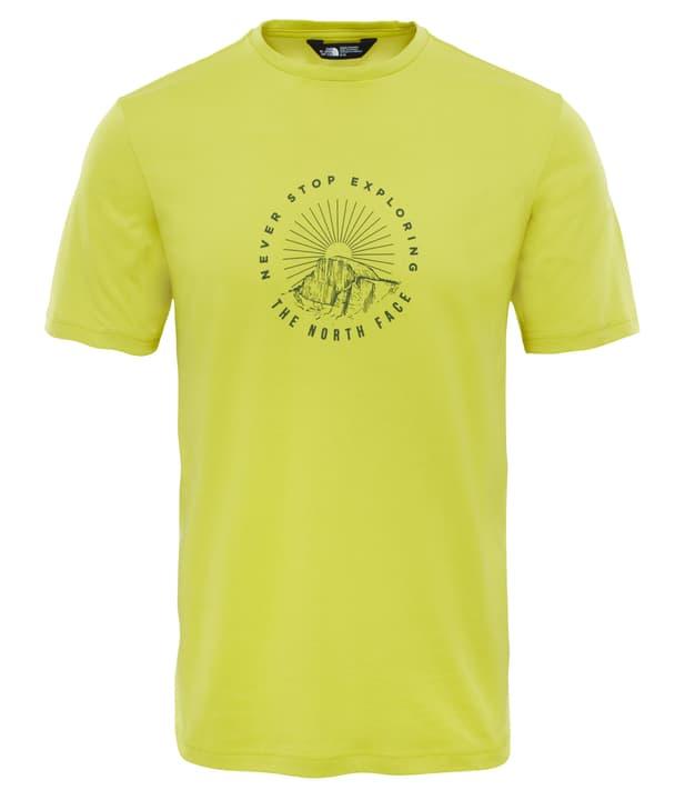 Tansa T-shirt à manches courtes pour homme The North Face 462777800562 Couleur vert neon Taille L Photo no. 1
