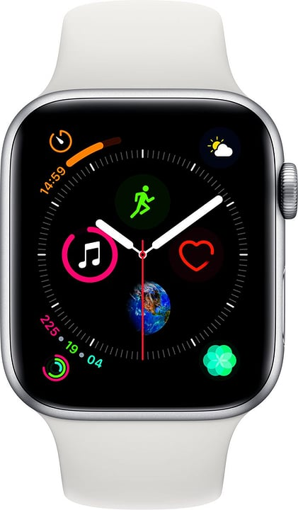 Watch Serie 4 44mm GPS Silver Aluminum White Sport Band Smartwatch Apple 798455800000 Photo no. 1