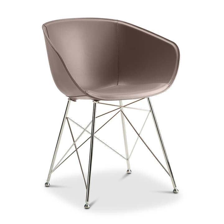 SEDIA Chaise avec accoudoirs 366171800000 Couleur Gris Dimensions L: 45.0 cm x P: 58.0 cm x H: 81.0 cm Photo no. 1